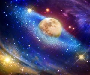 Sterne und Planeten im Weltall