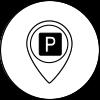 Kostenfreie Parkplätze direkt vor dem Haus