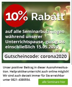Corona Rabatt Banner 10% bis 15.05.2020