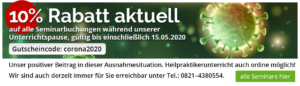 Rabatt Banner 10% bis 15.05.2020